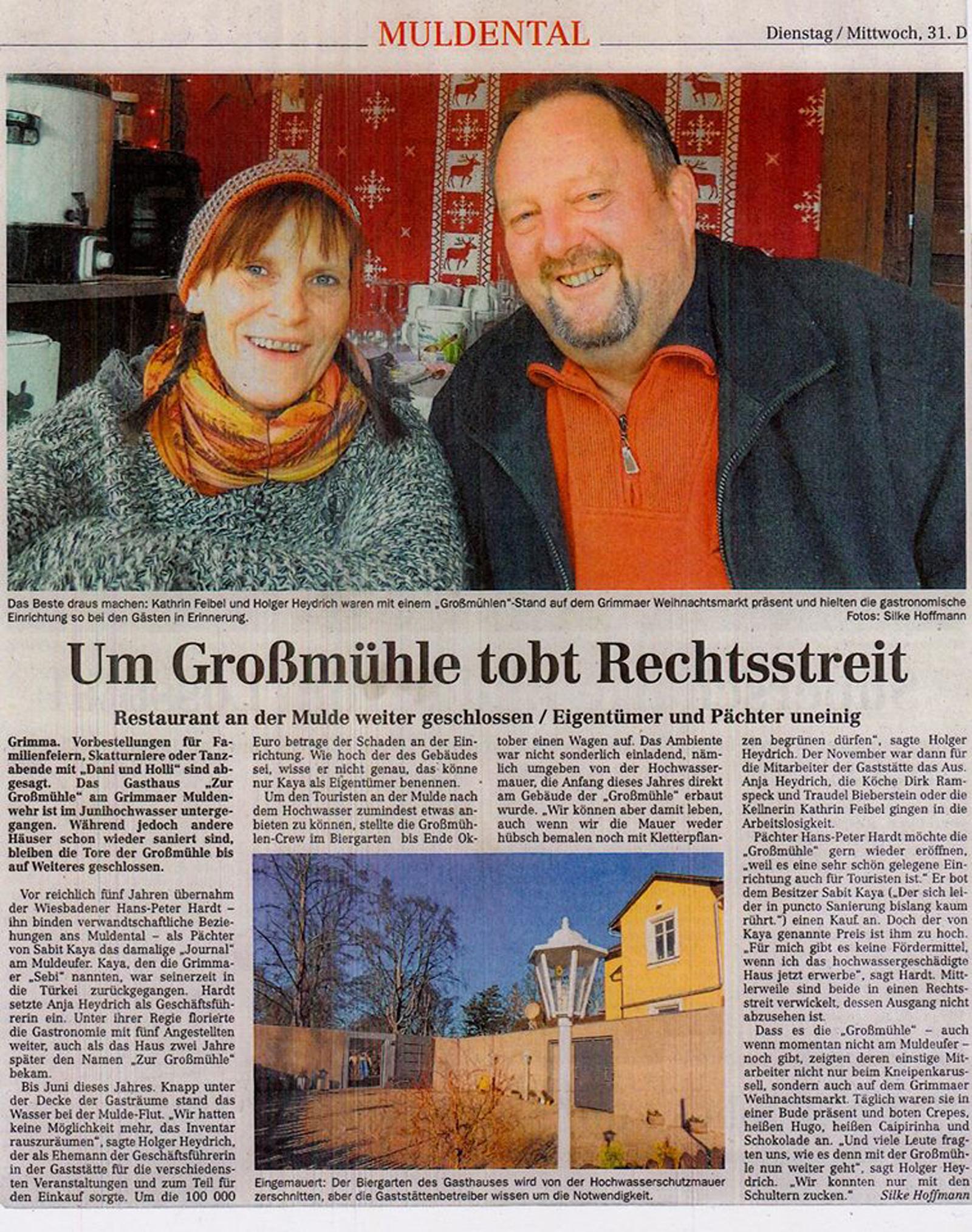 Rechtsstreit Großmühle